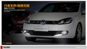 дневные ходовые огни Volkswagen Golf 6
